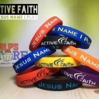 Wristband Active Faith In jesus name i play gelang basket NBA NIKE