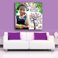 Custom Photo Plus Jam Dinding Retro Hiasan Wedding Ultah Pesta Rumah