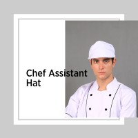 Chef Series Topi Asisten Koki (Chef Assistant Hat) w/ Hairnet - Putih
