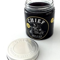 Pomade Chief Black Solid Hitam Strong Hold Waterbased Berbasis Air