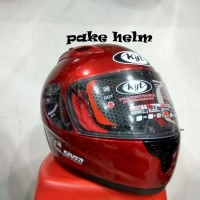 (Sale) HELM KYT RC 7 RC SEVEN SOLID MERAH MARUN FULL FACE RC7