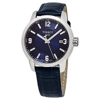 TISSOT PRC 200 Quartz Jam Tangan Pria T0554101604700 Leather Blue