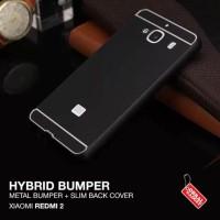 Harga xiaomi redmi 2 hybrid metal aluminium bumper thin back hard casing | Pembandingharga.com