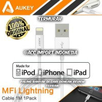 AUKEY CABLE KABEL IPHONE 5 5S 6 6S IPAD IPOD MFI CERTIFIED CB-D20 ORI