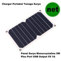 harga Solar Charger Portabel 5w - Panel Surya Mini Monocrystalline + Usb 5v Tokopedia.com