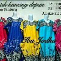 Jual daster klok jodha baju tidur batik dress motif Bali Murah