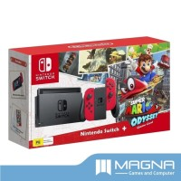 Jual Nintendo Switch Console - Super Mario Odyssey Red Edition Murah