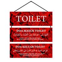 Hiasan Gantung Rumah Doa masuk keluar toilet/WC 10x30 Free packing