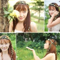 Leaf Bride-to-be Rose Flower Crown / Mahkota Bunga / Headband
