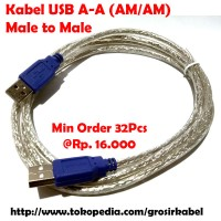 Kabel USB Male to Male USB A - A Cowok