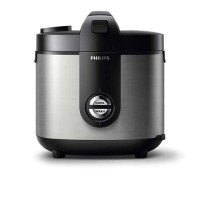 RICE COOKER PHILIPS HD3128 - SILVER (ORIGINAL) + Free Voucher Zalora