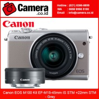 Canon EOS M100 Kit EF-M15-45mm IS STM +22mm STM - Grey - Mirrorless