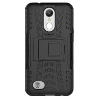 Rugged Armor LG K10 K 10 2017 Casing Kickstand Hard Soft Case Cover HP