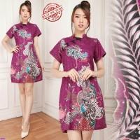 Purlia Chongsam dress/dress wanita jumbo/dress batik cheongsam/sb