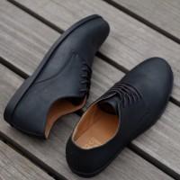 Sepatu Pria Formal Kasual Kulit Hitam ELDER DERBY BLACK