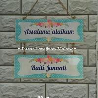 Wall Decor / Pajangan Dinding Tulisan Assalamualaikum