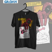 Gildan Custom Graphic Tshirt / Kaos  Superhero Dead Poll Awesome