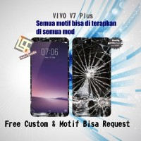 Garskin HP VIVO V7 PLUS motif Crack - motif bisa request