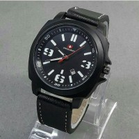 Jam tangan Pria, Swiss army kulit, tgl aktif/on, kw super