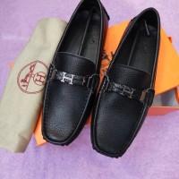sepatu pria HERMES kulit miror quality