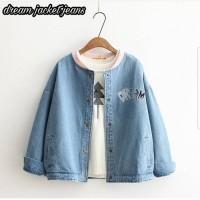 jeans denim levis outer jaket wanita jacket unik kekinian model baru
