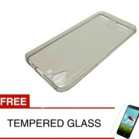 Case for Lenovo Vibe K5-Abu abu +gratis Tempered glass ultra thin soft