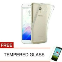 Case For Meizu Mx4 Pro-clear +gratis Tempered Glass Ultra Thin Softcas