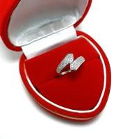 harga Cincin Perak Silver 925 Lapis Emas Putih / Cincin Wanita Tokopedia.com