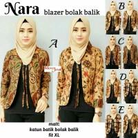 Harga baju blazer nara batik bolak balik remaja unik modern cantik | Pembandingharga.com