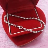 harga Gelang Wanita Elegan Perak 925 Lapis Emas Putih / Perhiasan Silver Tokopedia.com