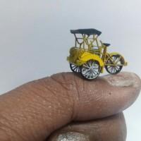 Jual miniatur becak jabar skala HO 1/87 mang irin Murah