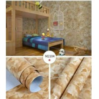 Wallpaper Sticker Glossy Batu Marmer Coklat Moka M2104