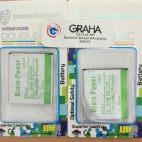 baterai samsung s4 / g7106 double 2ic brain power