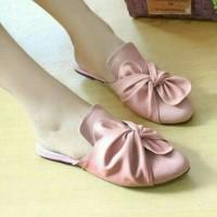 harga Sandal Flat Selop Pita Pink Salem Tokopedia.com
