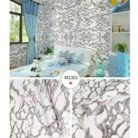 Wallpaper Sticker Glossy Batu Marmer M1301