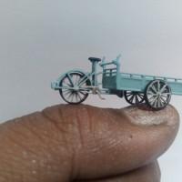 Jual miniatur becak pasar skala HO 1/87 mang irin Murah