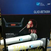 mic wireless SHURE GLXD BETA 58A / GLXDBETA58A + KOPER (WHITE)
