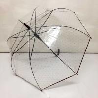 Payung Tongkat Transparan Mangkok Bintang 585