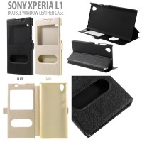harga  Sony Xperia L1 Double Window Leather Case Flip Case Flip Cover Tokopedia.com