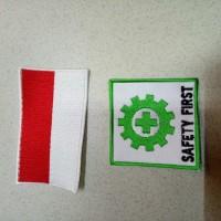 logo k3 dan bendera atau logo safety atau emblem safety
