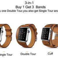 Apple Watch Premium Strap 38mm Model Hermes 3in1 Double,Single,Cuff