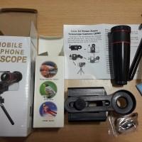 harga Zeus Lensa Tele Zoom 12x Holder Lipat Universal Mini Tripod Untuk Hp Tokopedia.com