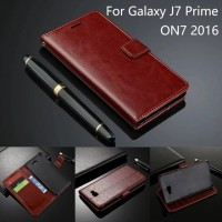 harga Samsung Galaxy J7 Prime Wallet Flip Cover Card Case Leather On7 2016 Tokopedia.com
