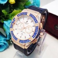 HBL01 Jam Tangan Wanita Hublot Geneve Diamond Leather Exclus T3009
