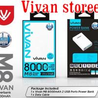 harga Power Bank Vivan M8 8000mah Powerbank Original Resmi Tokopedia.com