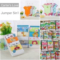 BAHAN BAGUS CARTER'S LOVE 5-in-1 JUMPER TANGAN PENDEK