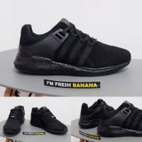 Sepatu Adidas Running EQT Support Equipment ADV Full Black Hitam Polos