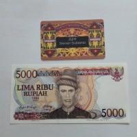 Uang Kuno 5000 Rupiah Teuku Umar 1986 bergambar menara kudus, UNC