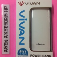 harga Power Bank Vivan M11 11000mah Full Dual Output 2a With Led Lig  Tokopedia.com