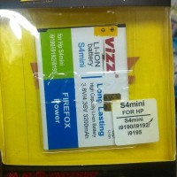 Limitted Baterai Vizz Samsung Galaxy S4 Mini I9190 3200mah - Double P